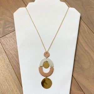 J.CREW Long Metallic Necklace